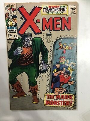 Uncanny X-Men #40 (1st Series)1968 (Silver Age) the Frankenstein monster.