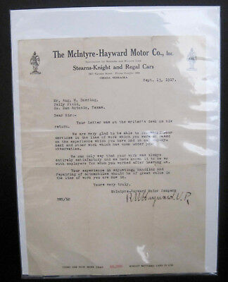 WWI Sept 1917 Kelly Field Aircraft Mechanic Teaching Job Letter of Recommendatio