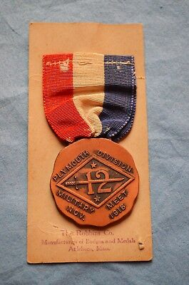 WWI 12th Division Medal on Original Card, ID to Pvt P.T. Conley