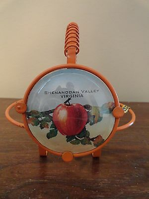 Vintage SHENANDOAH VALLEY VIRGINIA VA Apple Advertising Metal Holder