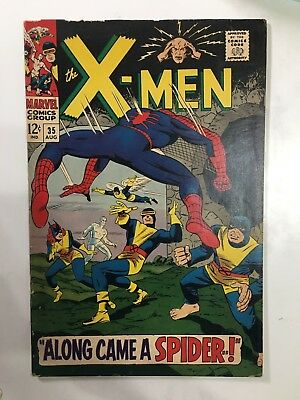 The X-Men #35 (Aug 1967, Marvel) Spider-Man crossover Key Issue! Stan Lee!