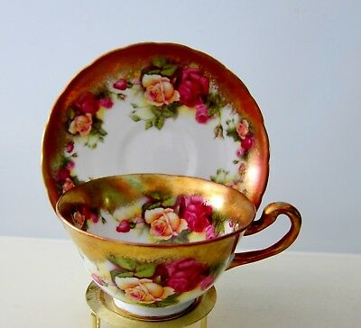 Exquisite Royal Chelsea Golden Rose Teacup And Saucer Bone China England