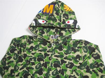 77cfa31921dc A BATHING APE ABC SHARK FULL ZIP HOODIE green camo M WGM 18ss bape new