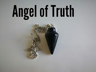 Code 858 Angel of Truth Blue sunstone Infused Pendulum Doreen virtue certified