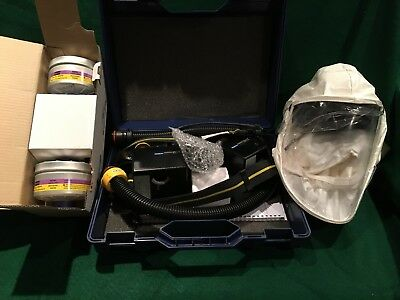 North Safety Powered Air Purifying Respirator PAPR Painting Hood Cartridges NEW!