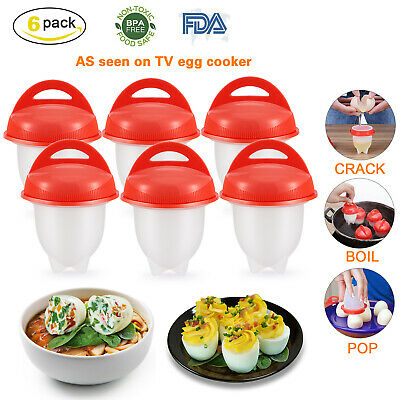 12pc Kitchen Egglettes Egg Cooker Hard Boiled Eggs without the Shell Egg Cups
