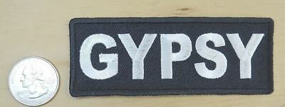 "GYPSY IRON-ON / SEW-ON EMBROIDERED  PATCH 4""x 1.5"""