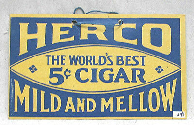 Vintage Herco Cigar Fan Pull Sign