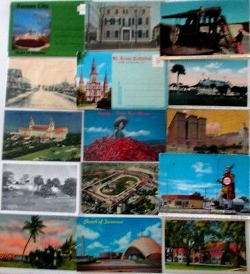 Lot of 100+ Vintage Mix of USA travel postcards from Several Estates