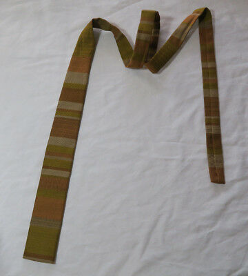 Vintage Ernst San Fransisco Men's Skinny Striped Square Necktie