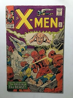 X-Men #15 Silver Age Marvel Uncanny Origin of The Beast (1965)