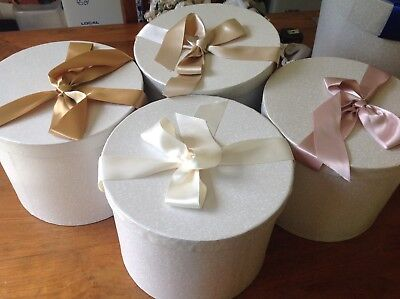 Hat box With Gold Ribbon
