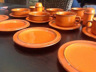 Rare Retro Hutschenreuther Soup & Ramekin Set - Made In Germany - 22 Pieces