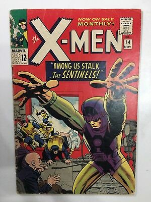 The X-MEN #14 1965 Marvel Comic First App Sentinels Stan Lee Jack Kirby J Gavin