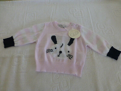"""NWT Gingerlilly Baby Baby Girl """"Daisy Bunny"""" Knit Jumper...0-3 months"""