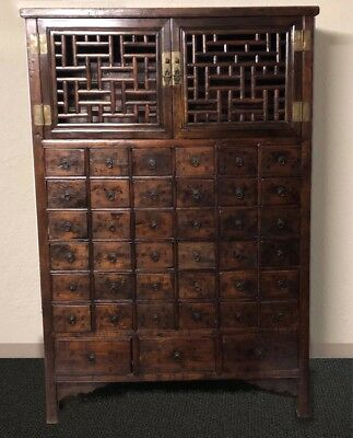 Beautiful Antique Chinese Wooden Medicine Cabinet - Excellent Condition