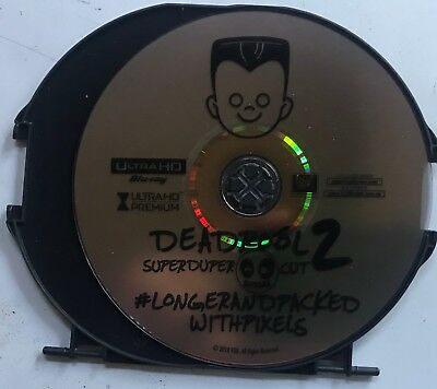Deadpool 2 Unrated Cut 4K Ultra Hd 1 Disc Only No Case No Artwork No Slipcover