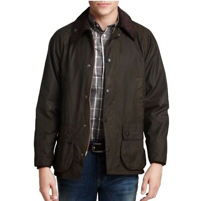 NWT BARBOUR Classic BEDALE Fit Wax Jacket-Size 40 OLIVE $379
