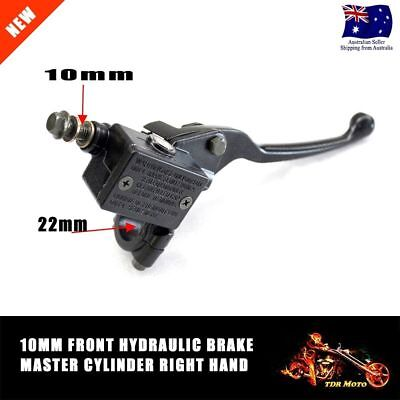 10mm Front Right Hydraulic Brake Master Cylinder Lever Dirt Bike ATV Quad Buggy