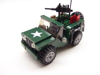 World War 2 American Willys Jeep Ww2 W Minifigure Made With Real