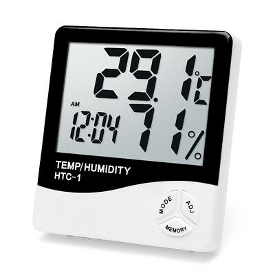 Large Digital HTC-1 Folding Travel Alarm Clock with Thermometer Calendar Timer H