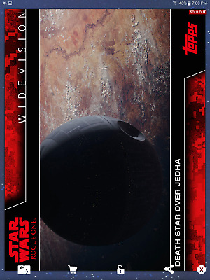 Star Wars Card Trader ROGUE ONE WIDEVISION RED JEDHA ERROR CARD Topps