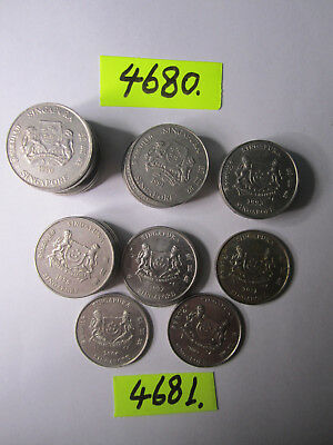 31 x  coins from Singapore   142     gms      Mar4680/1