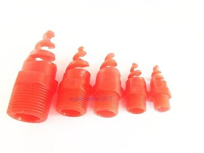 "10pcs New Plastic PP spiral Cone spray nozzle  3/4"" bspt"
