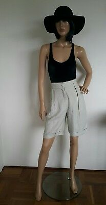 Vintage linen shorts by Cue Design. Size 8. Made in Australia