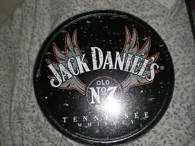 Jack Daniels Old #7 Round Tennessee Whiskey Bar Pub Wall Decor Metal Tin Sign