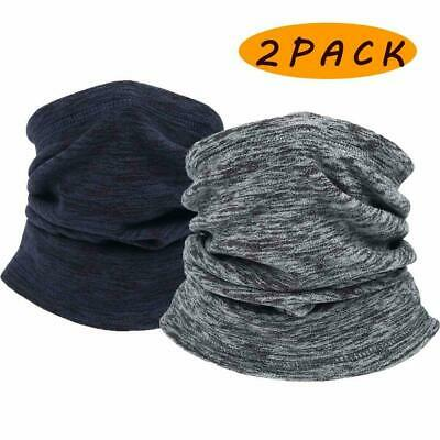 2Pack Polar Fleece Scarf Neck Tube Warmer Thermal Motorcycle Bike Ski Cycling US