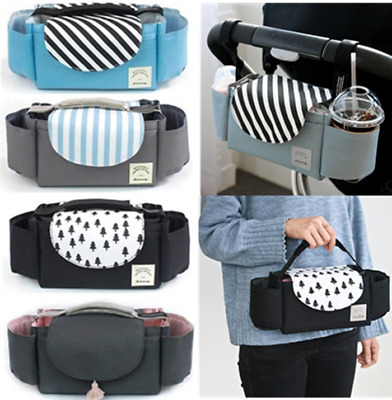 UK Baby Stroller Storage Bag Organizer Pram Buggy Pushchair Cup Diaper Hanging