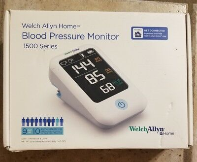 WELCH ALLYN Home 1500  Blood Pressure Monitor H-BP100 Smartphone Connectivity