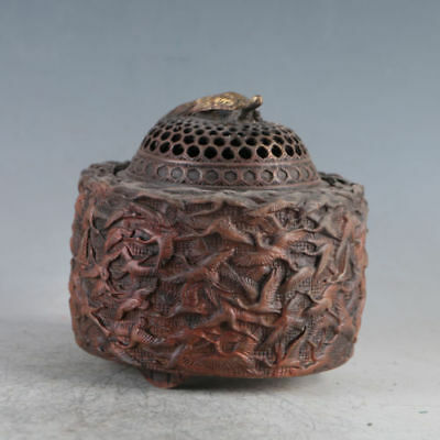 Chinese Ancient Gilt Copper QianHe Burner Made During The Da Ming