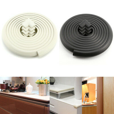 5M 4 Corners White/Black Baby Toddler Safety Proofing Table Edge Guard Protector