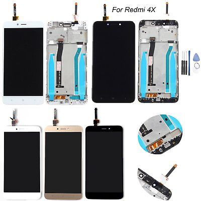 For Xiaomi Hongmi Redmi 4X LCD Display + Touch Screen Glass Assembly with Frame