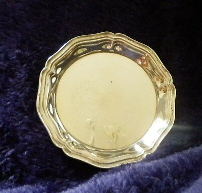 A solid silver .925 dish by French firm of Christofle in original box.