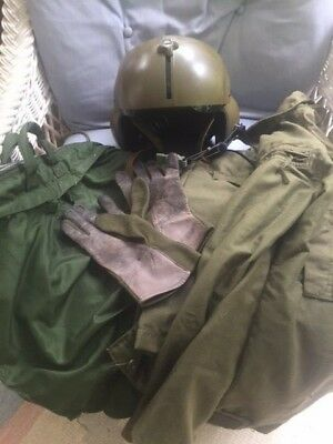 Named Helicopter Grouping, Gentex Helmet, Nomex Pants And Shirt, Gloves And Bag