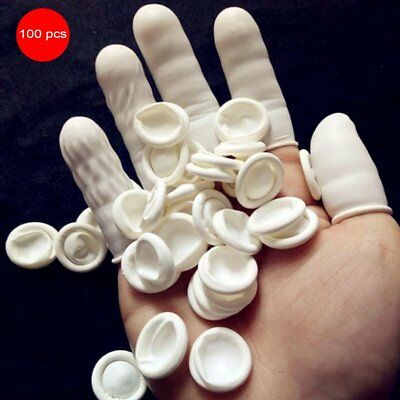100PCS Durable Natural Latex Anti-Static Finger Cots for Eyebrow Extension G6