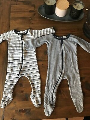 Baby Boy Purebaby Jumpsuit Growsuits Size 00 Bundle