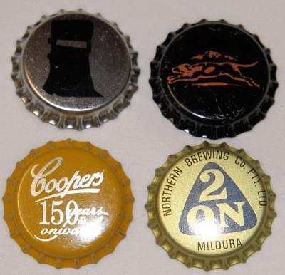 Collectible Group Of 4 Uncrimped Australian Bottle Caps/tops Group 16 - New