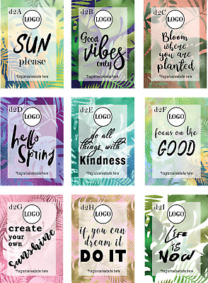 Personalised Candle Label Soap Label Sticker 18pcs Labels D2
