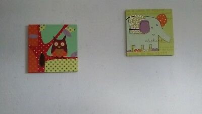 Mamas and papas Made with love pictures / wall art / canvas nursery