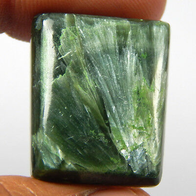 32.80 Cts Natural Green Seraphinite Fancy Shape Cabochon Loose African Gemstone