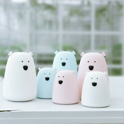 LED Nursery Night Light Animal Silicone Kids Nightlight Remote Touch Sensor Lamp