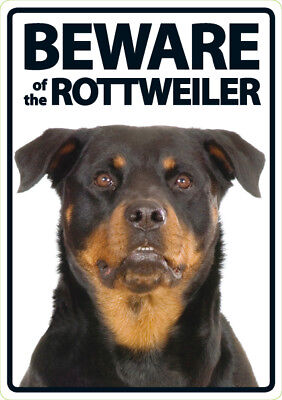 Beware of the Rottweiler - A5 Plastic Sign
