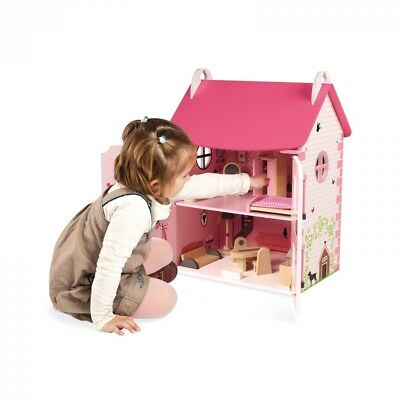 Mademoiselle Pink Wooden Traditional Girls Doll's House