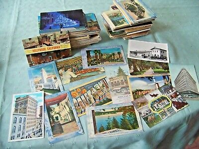 LARGE POSTCARD VINTAGE LOT CALIFORNIA 500++ EARLY 1900'S TO Chrome