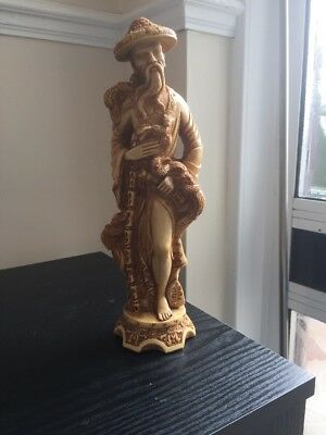 Vintage Chinese Resin Male Figure 10 Inches High
