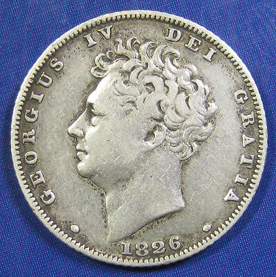 1826 6d George IV silver Sixpence in a decent grade